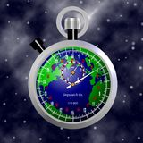 Time running out for Earth Royalty Free Stock Photos