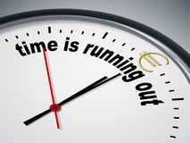Time is running out for Euro Royalty Free Stock Image