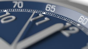Time is running out extreme closeup. (realtime), the hand of watch goes to twelve stock footage