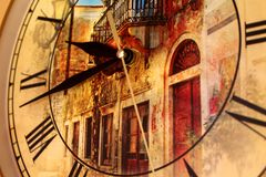 Time is running. Time spares no one. Neither people nor buildings. The past can not be returned. But still there is an opportunity to learn something new royalty free stock photo