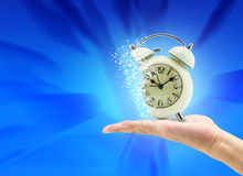 Time is running up. Ob hand Royalty Free Stock Photo