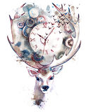 Time is running stock illustration