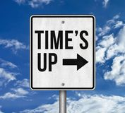 Time`s up campaign. Road sign Stock Photos