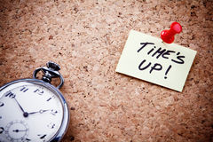 Time's up Royalty Free Stock Images