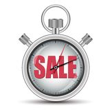Time sale concept stopwatch Royalty Free Stock Photography
