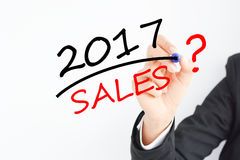 Time for sales forecast for 2017 Stock Images