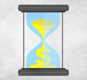 Time Sand Glass Hour Glass Finance Saving Concept Royalty Free Stock Images