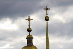 Time-schackningsperiod över kupolerna arkivfilmer