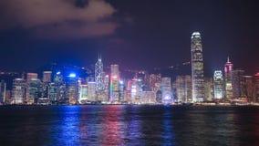 Time-schackningsperiod av den Hong Kong staden, sikt från Victoria Harbour stock video