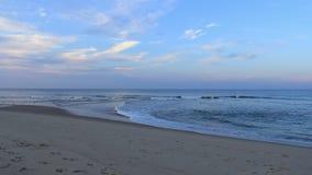 Time-schackningsperiod för Cape Cod strandsolnedgång lager videofilmer