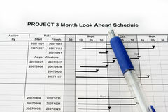 Time Schedule. Look ahead graph for a project royalty free stock photo