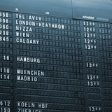 Time schedule airport Royalty Free Stock Photography