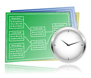 Time schedule planning Stock Photo