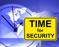 Time For Security Indicates At The Moment And Encryption Stock Image