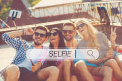 Time for selfie. Royalty Free Stock Image