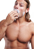 Time for shaving Royalty Free Stock Image