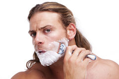 Time for shaving Royalty Free Stock Photography