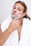 Time for shaving Stock Photos