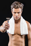 It is time for shaving Royalty Free Stock Image