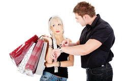 Time at shopping Royalty Free Stock Photo