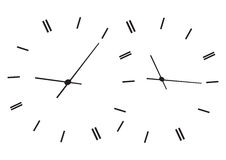 Time showing clocks Stock Image