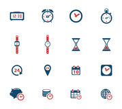 Time simply icons Stock Photography