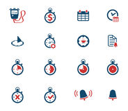 Time simply icons Royalty Free Stock Image