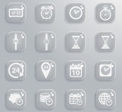 Time simply icons Royalty Free Stock Photos