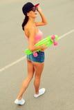 Time for skateboarding. Stock Photo