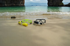 Time for snorkelling! Stock Images