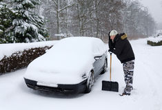 Time for snow removal Royalty Free Stock Photo