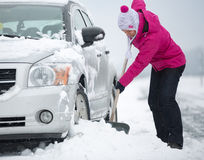 Time for snow removal Stock Image