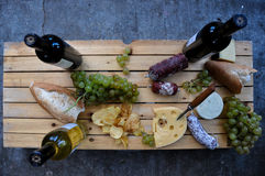 Time for some great food and wine, Cafayate, Argentina royalty free stock photo