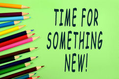 Time for something new! Royalty Free Stock Images