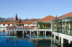 Time for spa: Heviz thermal lake and swimming pool spa resort in Hungary Stock Photo