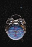 Time and Space. Clock in space depicting Time & Space Royalty Free Stock Photography