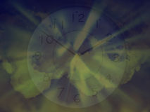 Time and space. In movement Stock Image