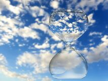 Time and space, hourglass and clouds photographed in South Africa