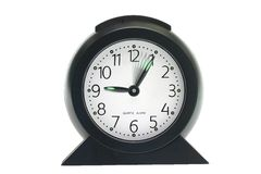 Time speeding on clock Royalty Free Stock Photo