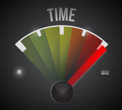 Time speedometer to the max illustration design Royalty Free Stock Photography