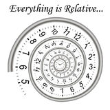 Time spiral  - everything is relative Stock Image