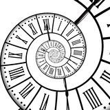 Time spiral, isolated on white Royalty Free Stock Image