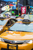 Time Sqare cab traffic Royalty Free Stock Images