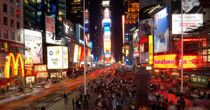 Time square. Night view of time square, new york Royalty Free Stock Photo