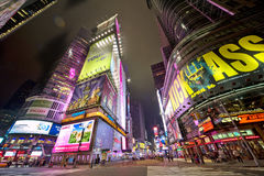 Billboards on Times Square in New York Royalty Free Stock Photos
