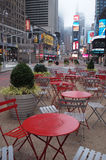 Time square. New york chairs Stock Image
