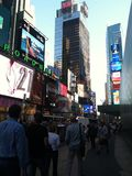 Time Square Stock Foto's