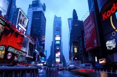 Time Square. New York Time Square at dawn Royalty Free Stock Photos