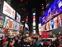 Time Square in all its glory stock photography