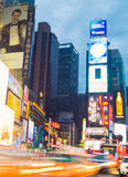Time Square au crépuscule Photos libres de droits